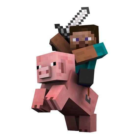 Minecraft clipart piggy WilsonGraphics Decal Wall 50 Steve