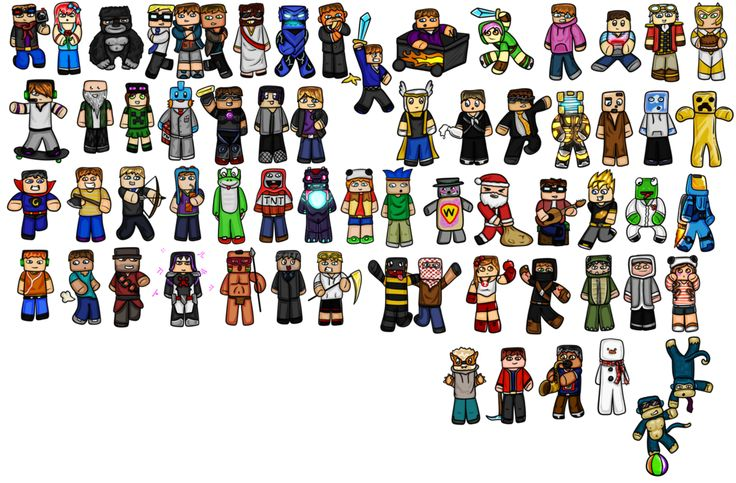 Minecraft clipart youtuber By Youtubers Minecraft  to