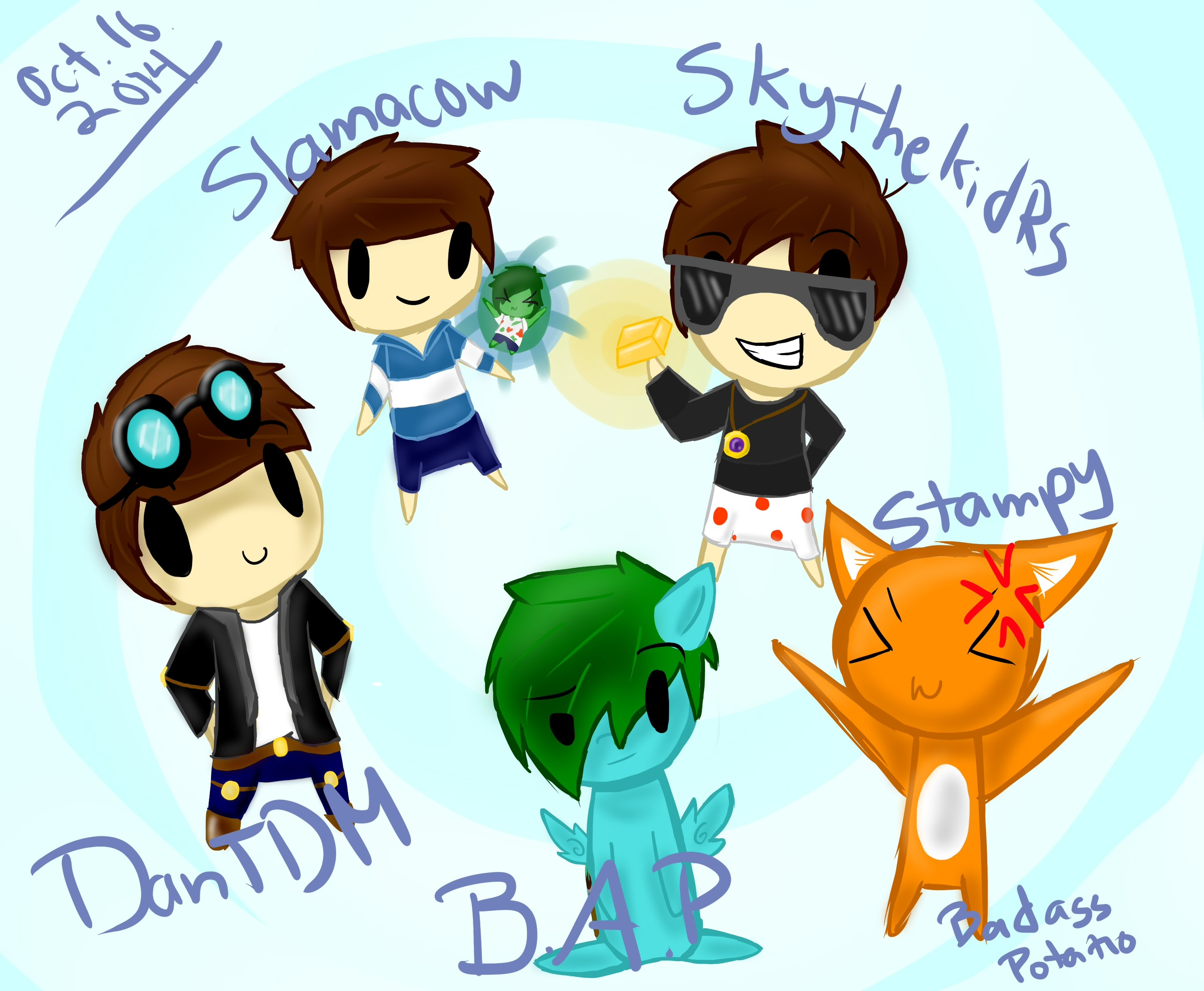 Minecraft clipart youtuber Youtubers Minecraft  YouTube SpeedArt/FanArt