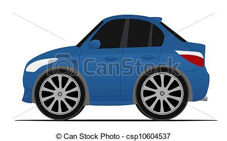 Blue Car clipart mini car Csp10604537 of car mini blue