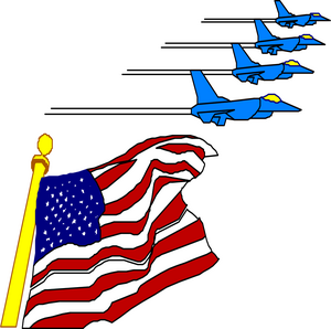 America clipart us flag Above American S Flag flying