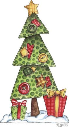 Christmas Tree clipart rustic PIECING Tree Free  S