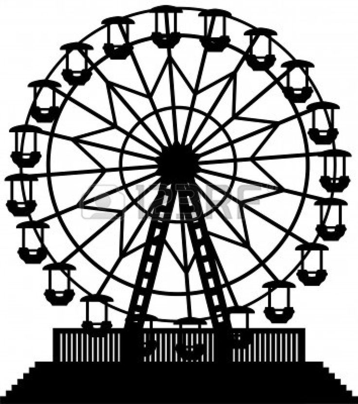 Drawn ferris wheel simple #11