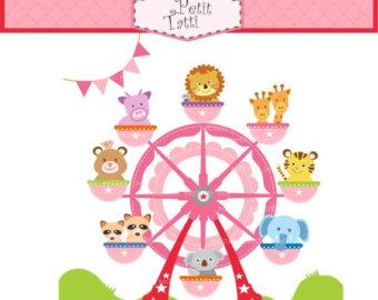 Miniature clipart ferris wheel Clip Ferris ON Etsy SALE