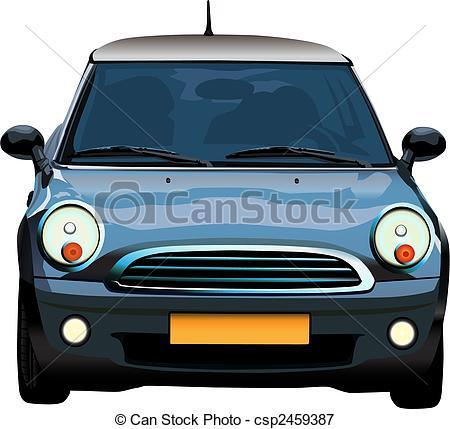 Blue Car clipart mini car And car Mini  vector
