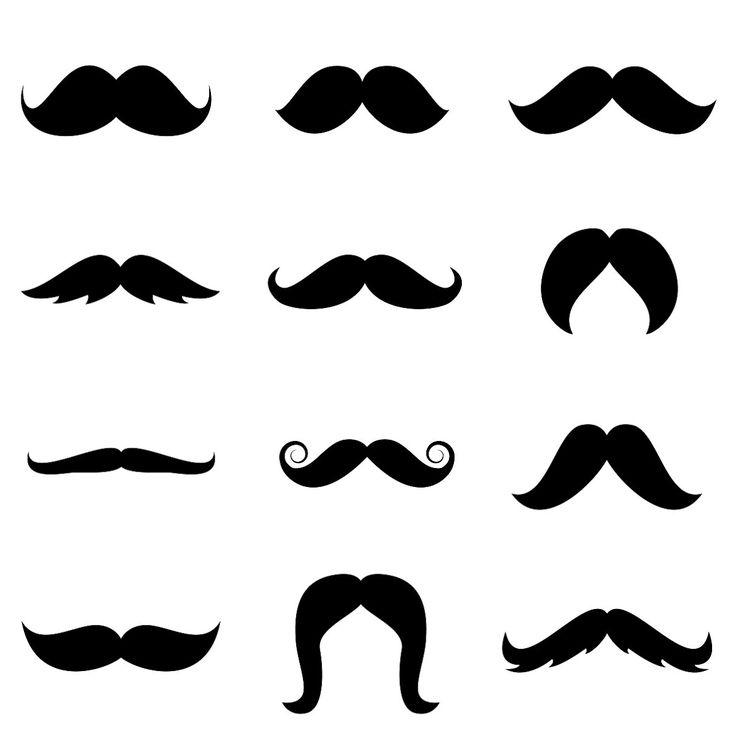 Dark Blue clipart mustache Printable free template 10+ Pinterest