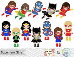 Mini clipart superheroes Art flash Super Clipart Digital