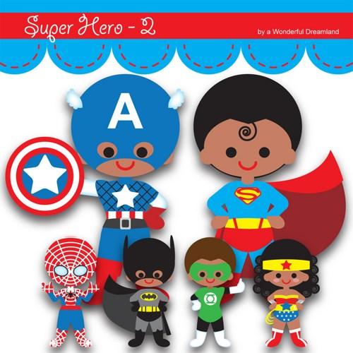 Mini clipart superheroes Art superhero PDF Clipart Clip