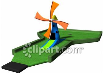 Windmill clipart mini golf #1