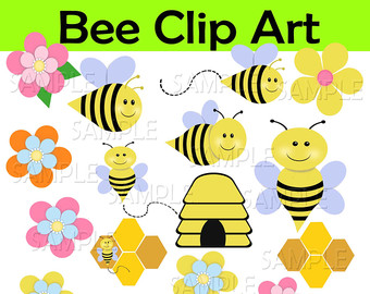 Bee Hive clipart spring Bumble Etsy art clip Summer