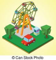 Miniature clipart ferris wheel Wheel Ferris wheel Stock Clipart