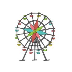 Ferris Wheel clipart made recycled material Wheel Search Ferris wheel Pinterest