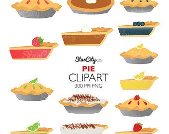 Pies clipart peach pie Food Pie Pie Etsy Coconut