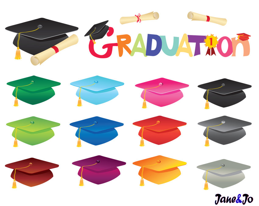 Graduation clipart the word Clip art off art Etsy