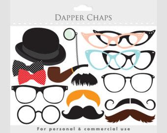 Spectacles clipart spects Bowtie Clip moustaches Art Clipart