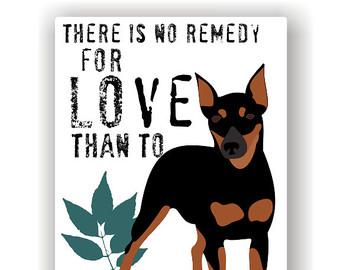 Miniature Pinscher clipart Dog Pin Love Art Pinscher