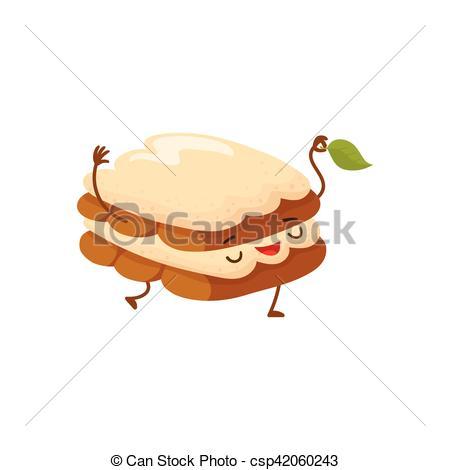 Mint clipart cartoon Csp42060243  Funny dessert Vector