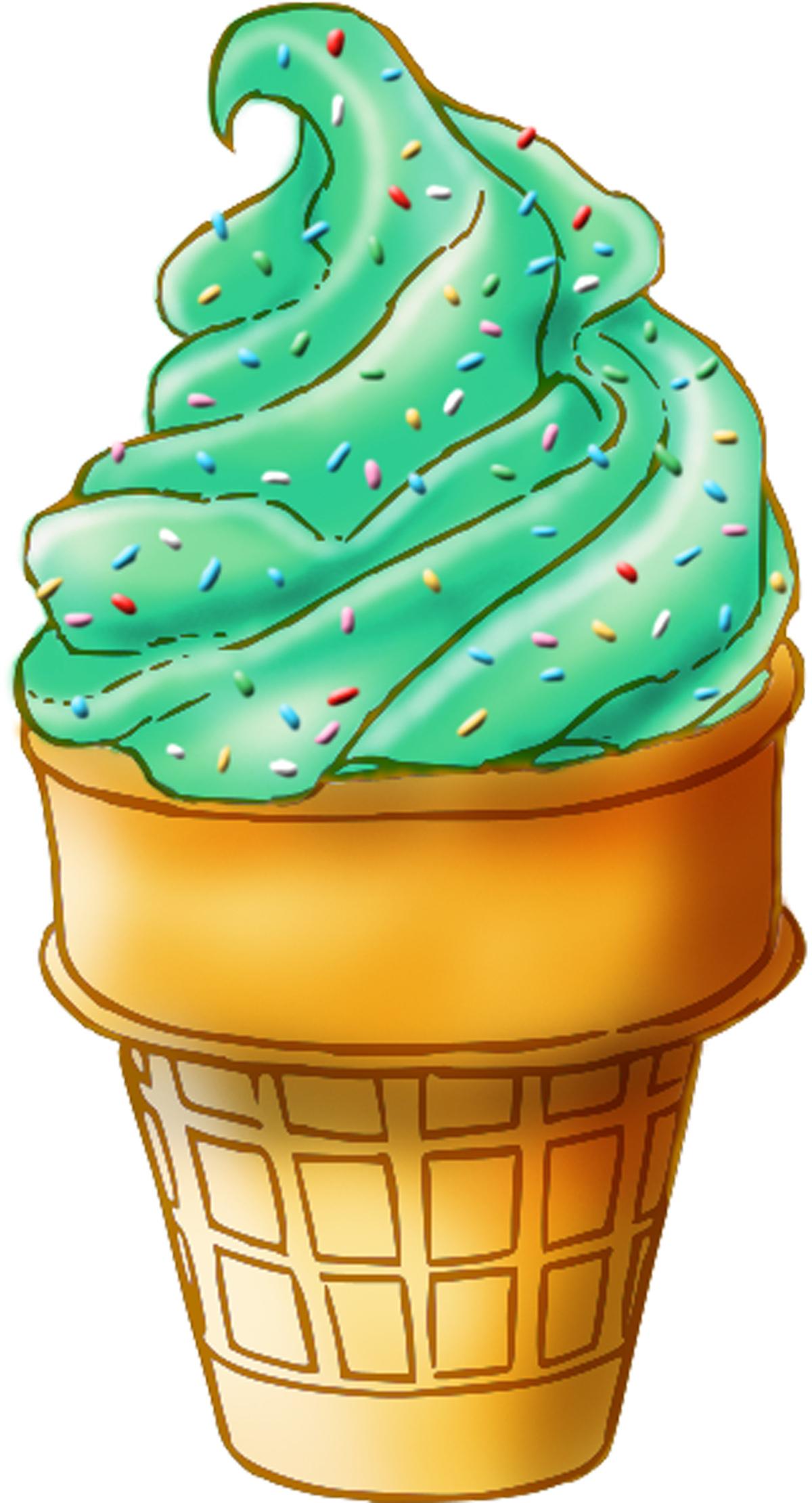 Mint clipart chocolate ice cream Cream no background Green Cliparts
