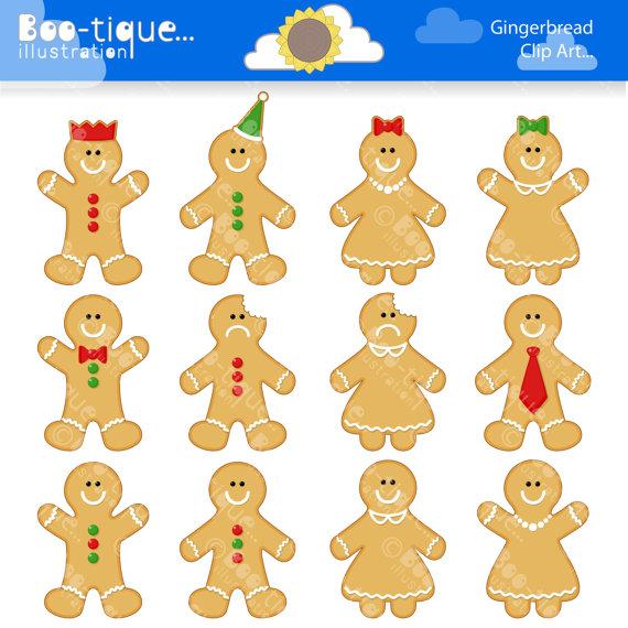 Gingerbread clipart plain  Art Clipart for Clip