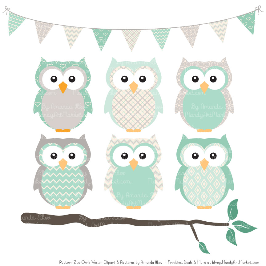 Mint clipart owl Owl Patterned Mint & Patterns