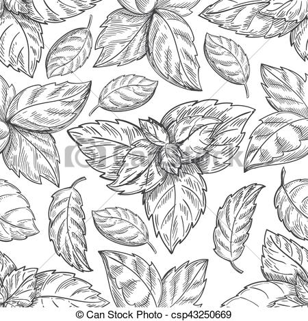 Mint clipart peppermint leaf Pattern leaves paper leaves leaf