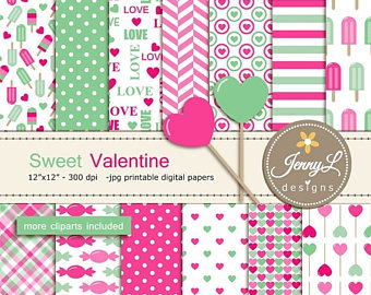 Mint clipart sweet Hearts Valentine Sweet Etsy clipart