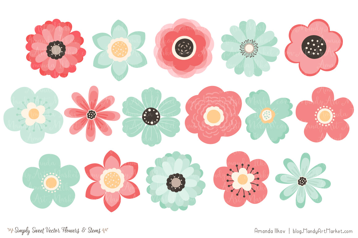 Mint clipart sweet & by Clipart Flowers Vector