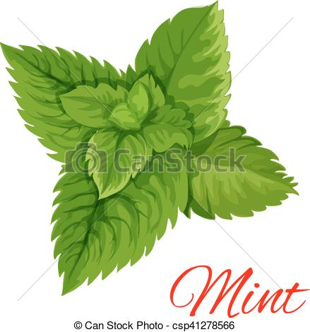 Mint clipart vector Leaves Mint Art isloated leaves