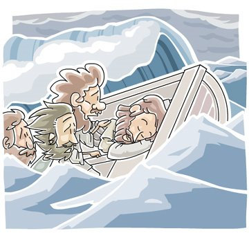Boat clipart disciples The rocking the Jesus up