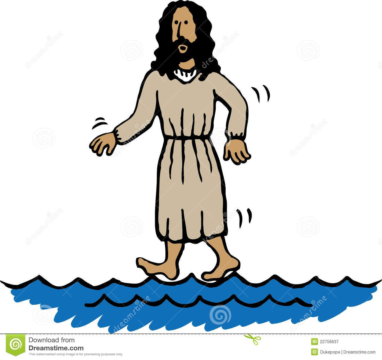 Miracle clipart jesus Of on  Miracles Water
