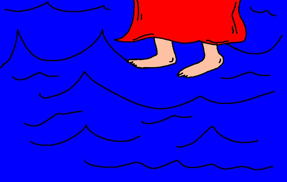 Pictures Clipart Jesus water walks