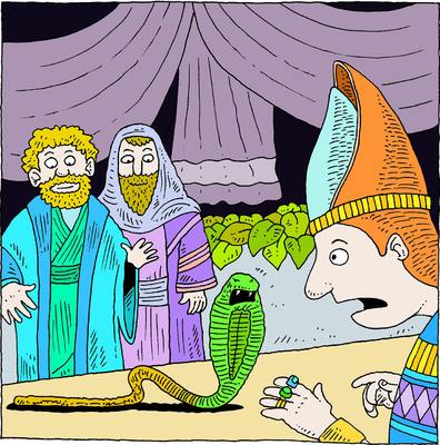 Miracle clipart moses exodus This it Serpent Image: Cast