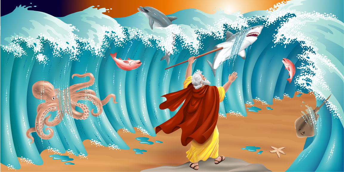 Miracle clipart moses exodus Exodus and Moses Clip Download