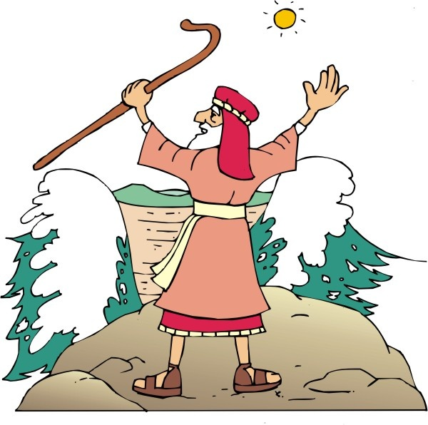 Staff clipart moses Moses Red Sea Moses best