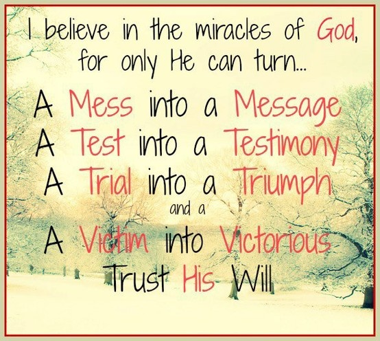 Miracle clipart trust god #2
