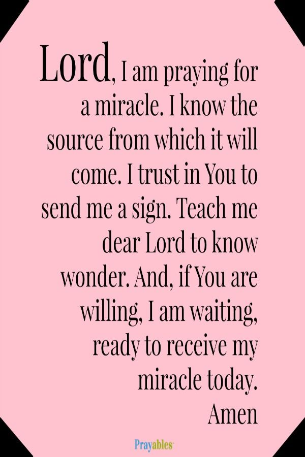 Miracle clipart trust god #4