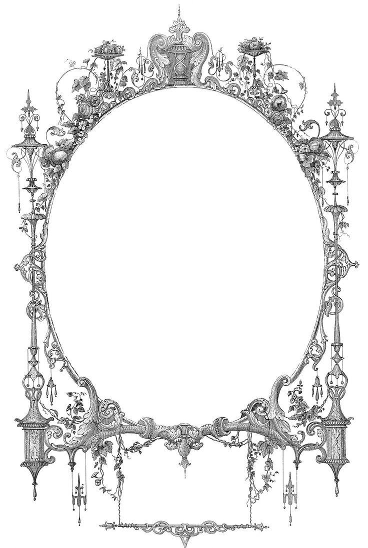Classic clipart border Mirror Ephemera Fairy  Frames