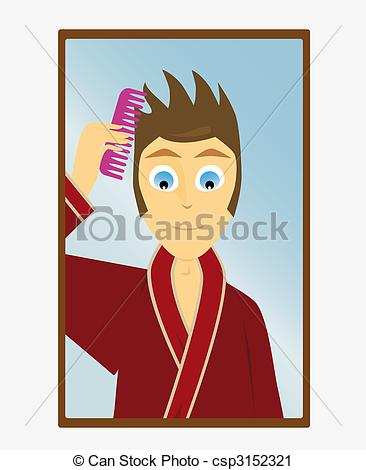 Mirror clipart comb Take boy Stock the look