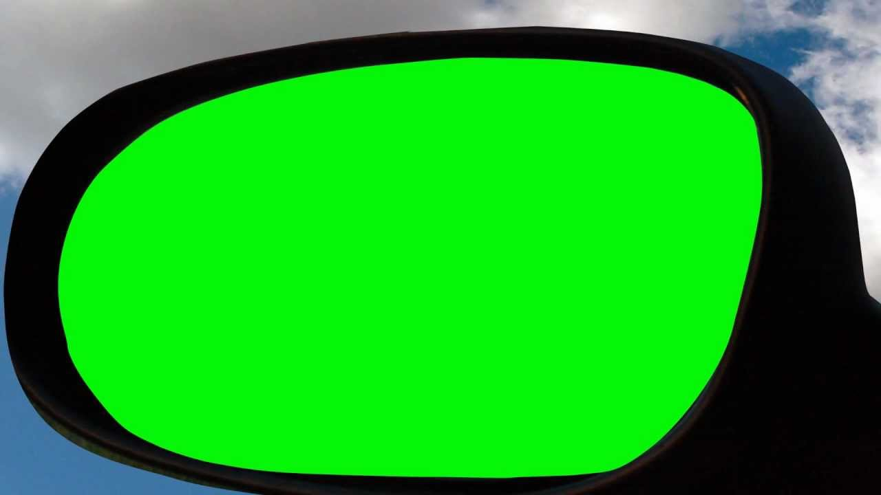 Mirror clipart green Car green screen screen YouTube
