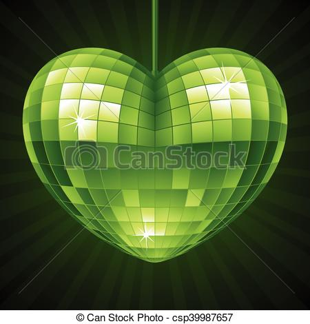 Mirror clipart green Shape ball mirror  Green