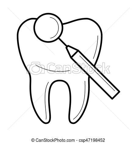 Mirror clipart icon Mirror vector of dental