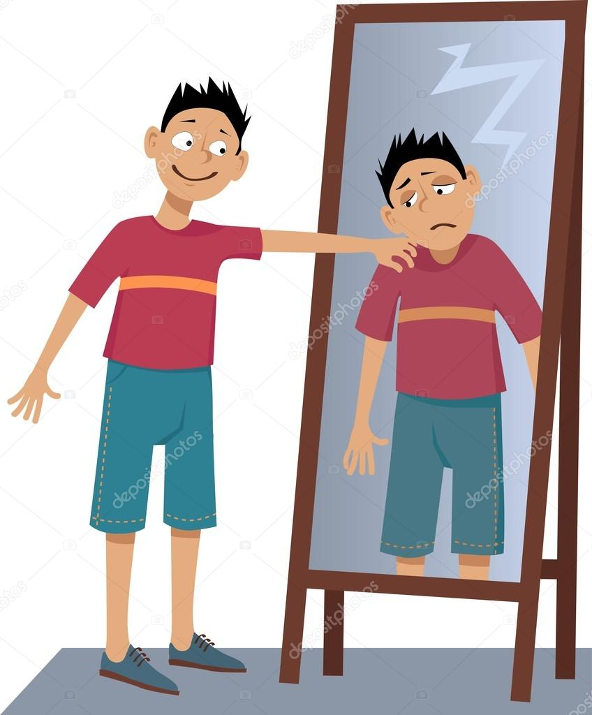 Mirror clipart man love #3