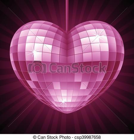 Disco clipart heart Mirror disco the Purple in