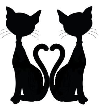 Mirror clipart silhouette Single topper best silhouette cat