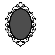 Mirror clipart silhouette Oval 4shared art and/or digital