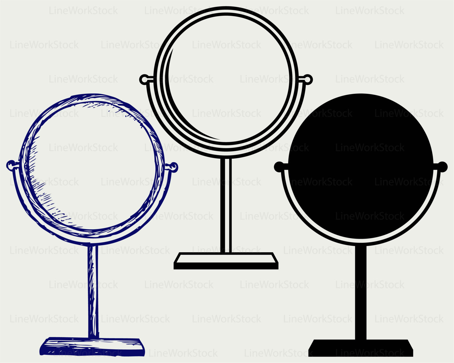 Mirror clipart silhouette Clipart file svg mirror a