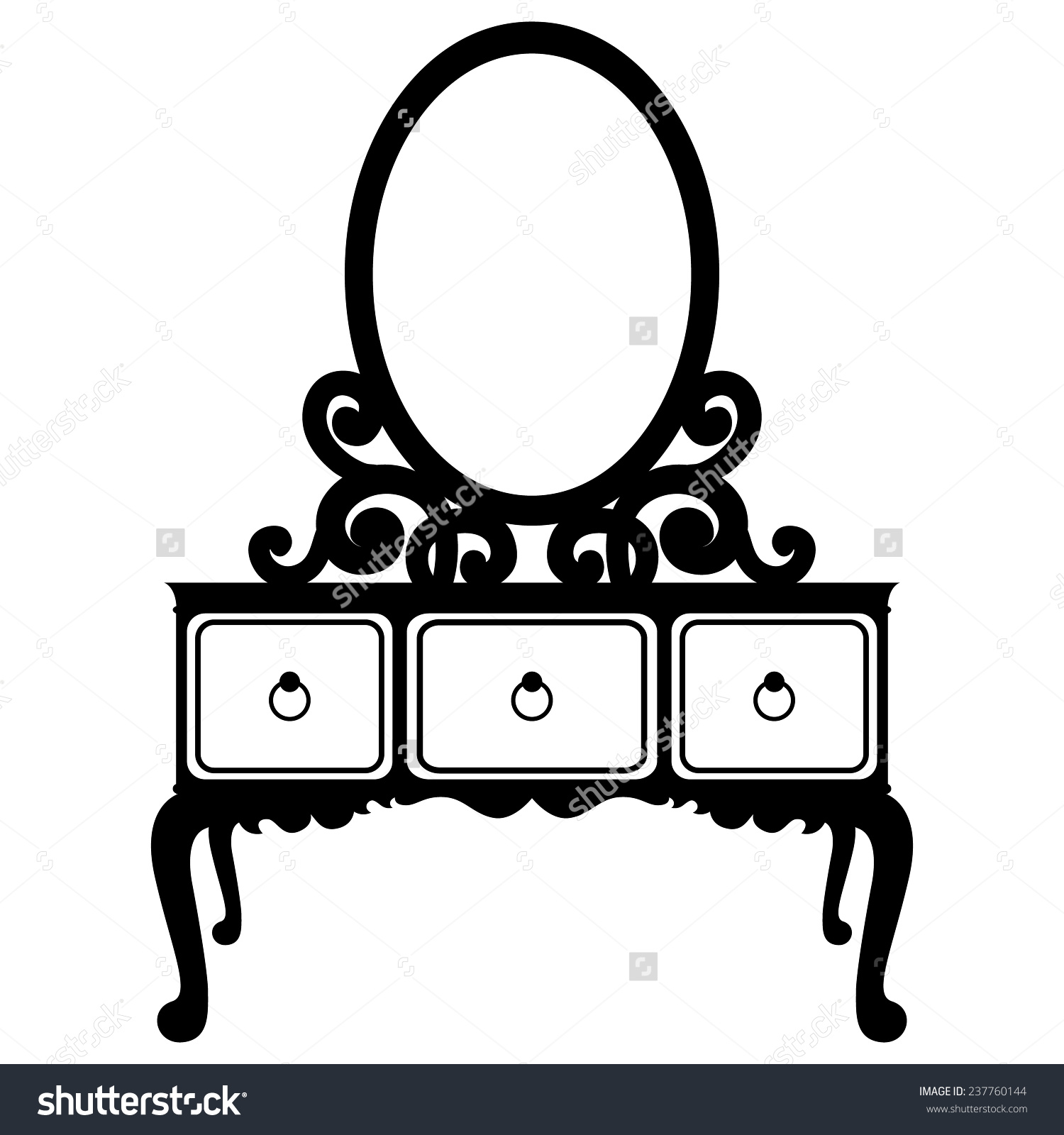 Mirror clipart silhouette Dressing Silhouette mirror Mirror Illustration