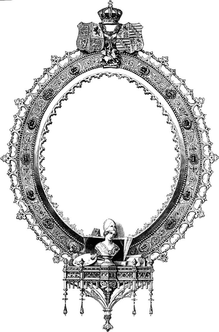 Mirror clipart victorian #4