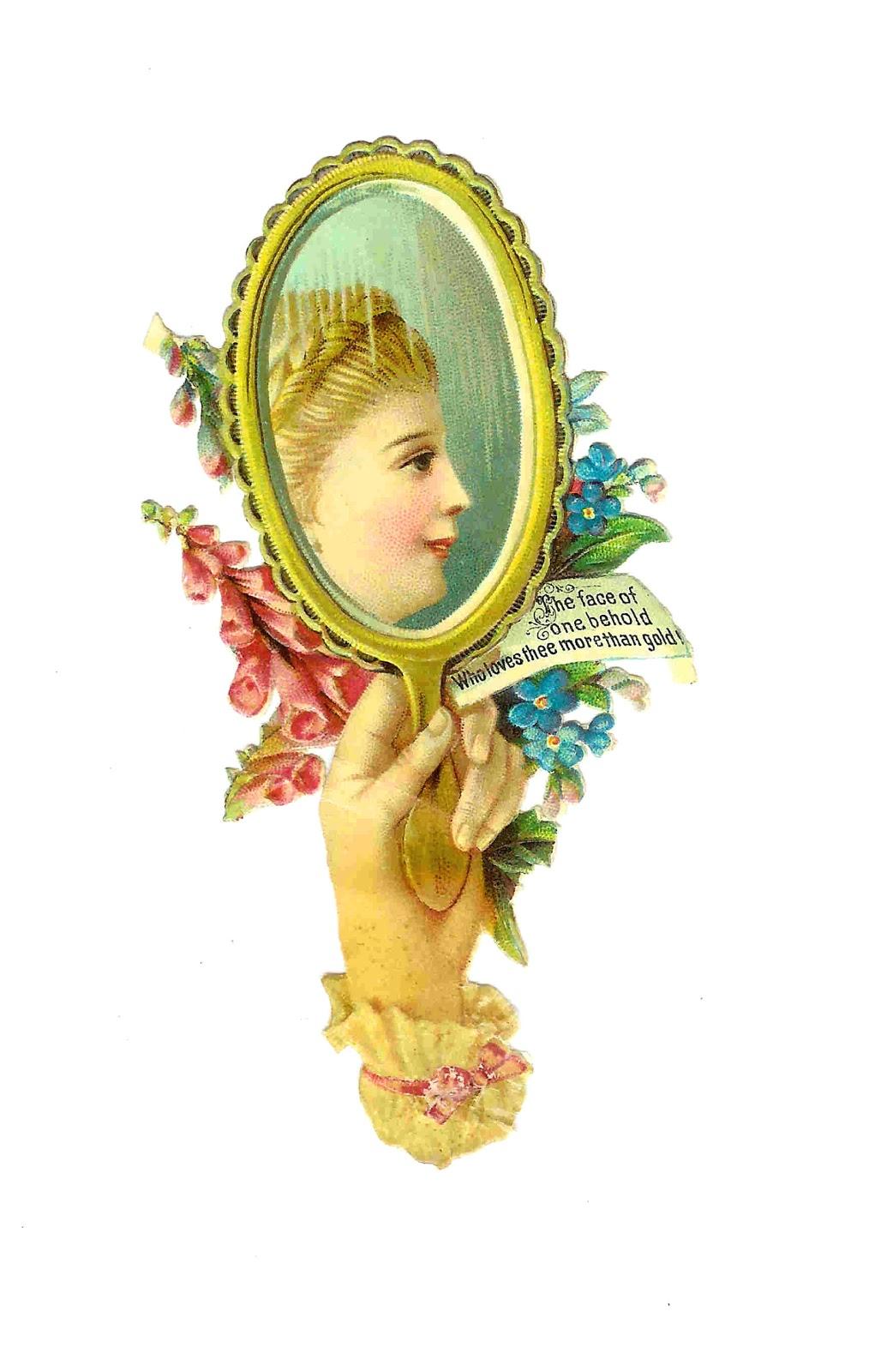 Mirror clipart victorian #3