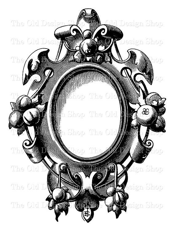 Mirror clipart victorian #7